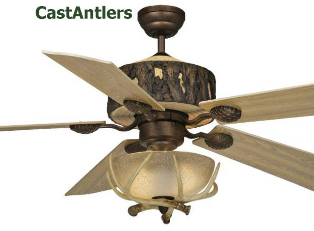 52 Quot Woodlands Rustic Faux Antler Ceiling Fan