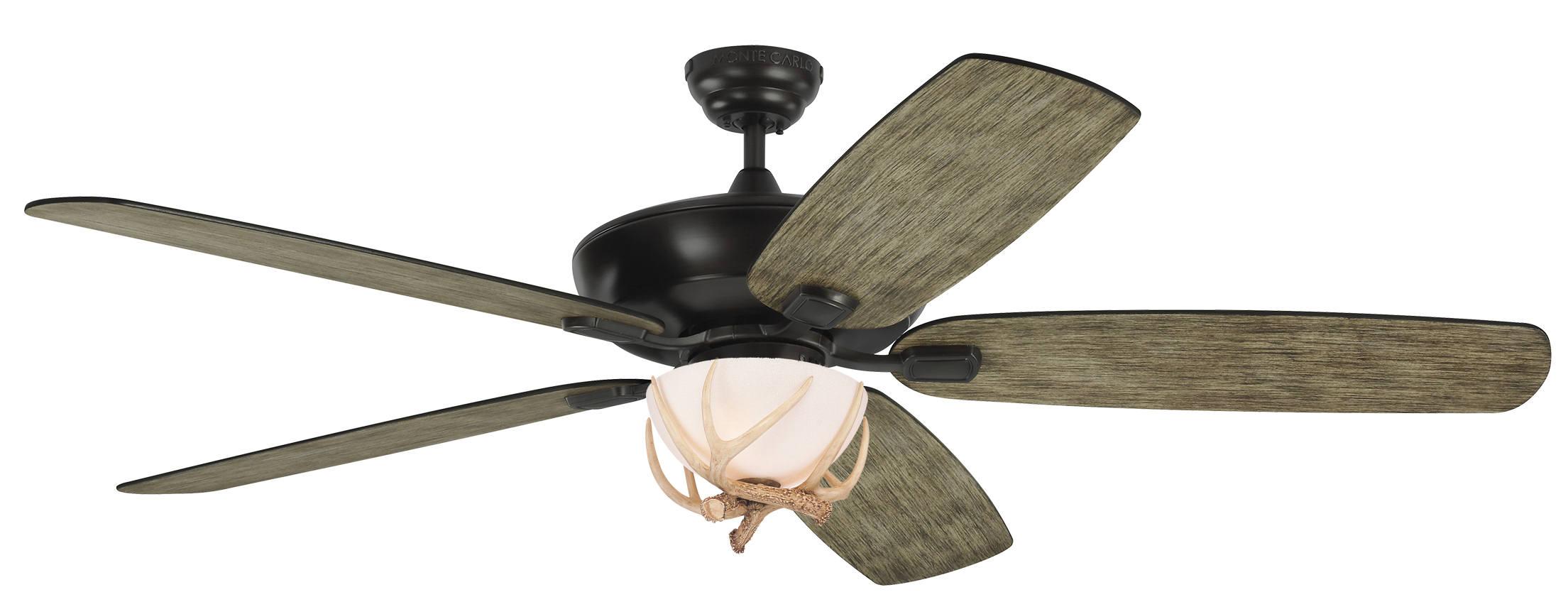 60 Antler Ceiling Fan Indoor Outdoor Light Blades