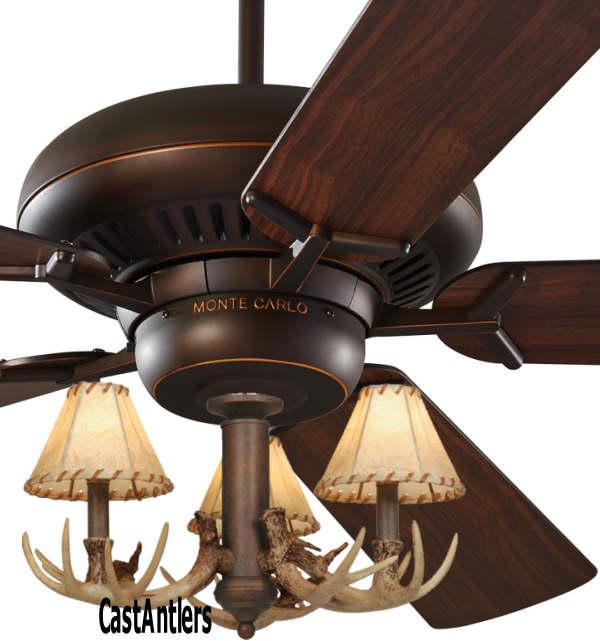 Standard size fans 60 3 light antler ceiling fan rustic 60 3 light antler ceiling fan aloadofball Images