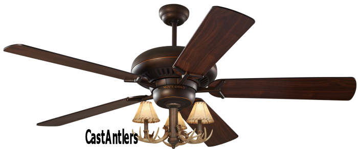 Standard size fans 60 3 light antler ceiling fan rustic 60 3 light antler ceiling fan aloadofball Images