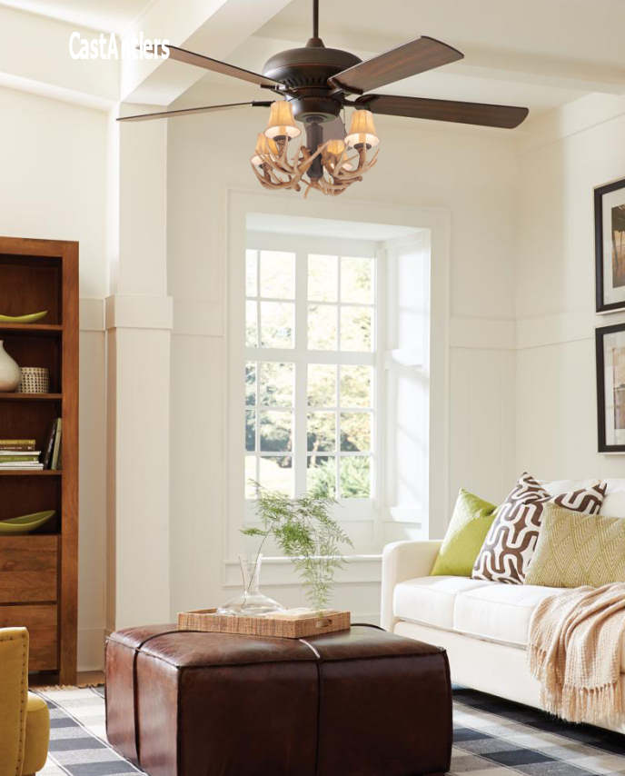 60 4 Light Antler Ceiling Fan