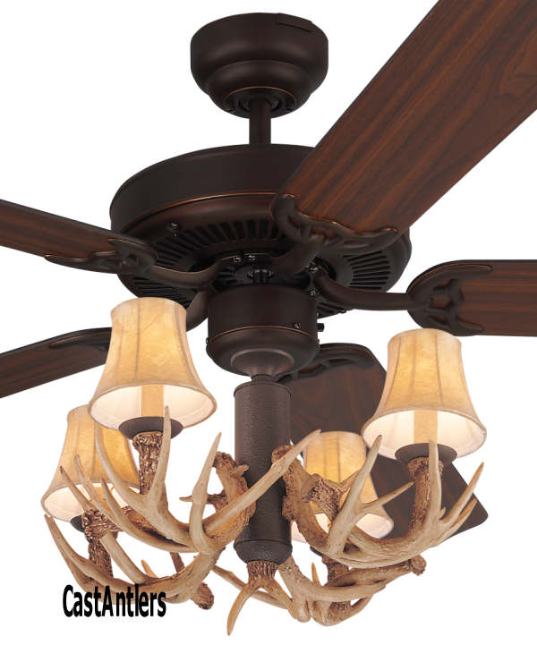 Standard size fans 52 lodge 4 light antler ceiling fan rustic 52 lodge 4 light antler ceiling fan aloadofball Images
