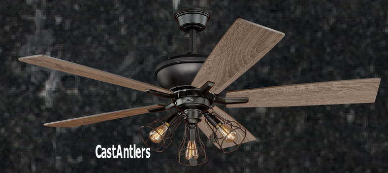 Standard size fans 52 edison rustic ceiling fan w industrial 52 edison rustic ceiling fan w industrial cage light mozeypictures Gallery