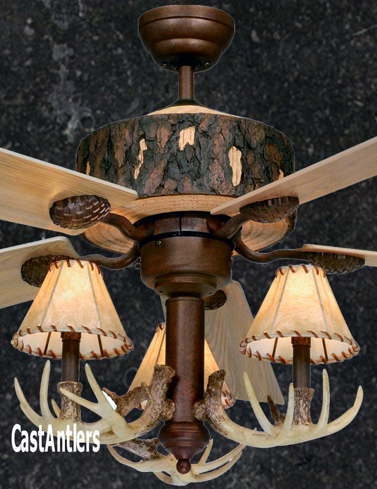 Standard size fans 52 rustic faux antler ceiling fan rustic 52 rustic faux antler ceiling fan aloadofball Image collections