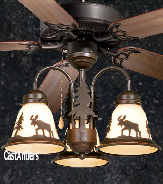Ceiling Fans W Lights: Rustic Ceiling Fan - 52 Inch