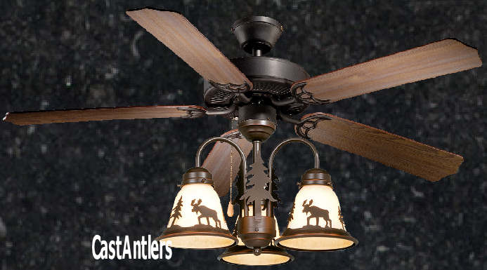 Standard size fans rustic ceiling fan 52 inch wilderness w rustic ceiling fan 52 inch wilderness w light kit multiple scene options aloadofball Choice Image