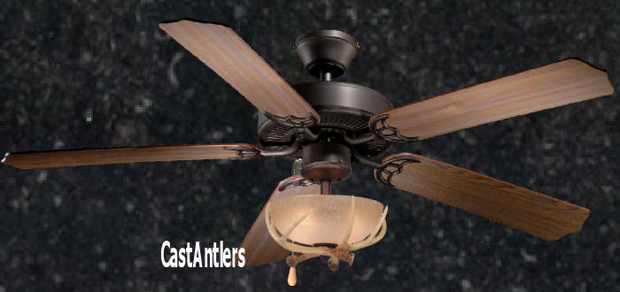 Standard size fans 52 rustic ceiling fan w antler bowl light kit 52 rustic ceiling fan w antler bowl light kit mozeypictures Choice Image