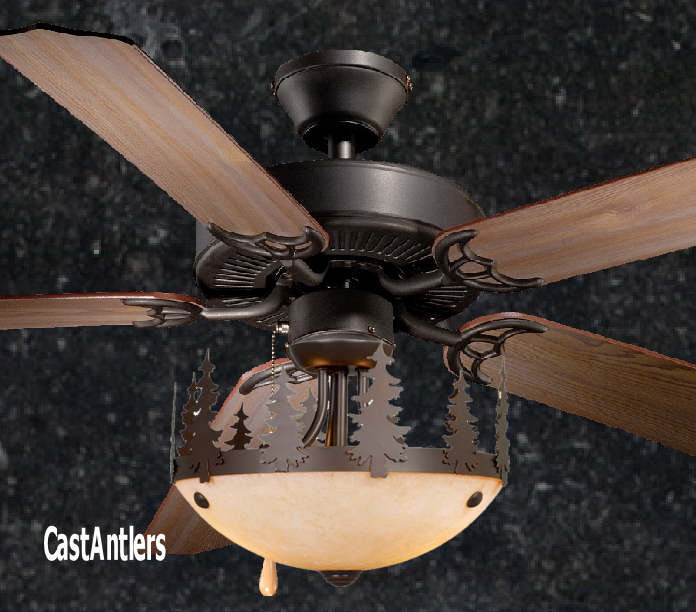 Standard Size Fans 52 Rustic Ceiling Fan W Yukon Light