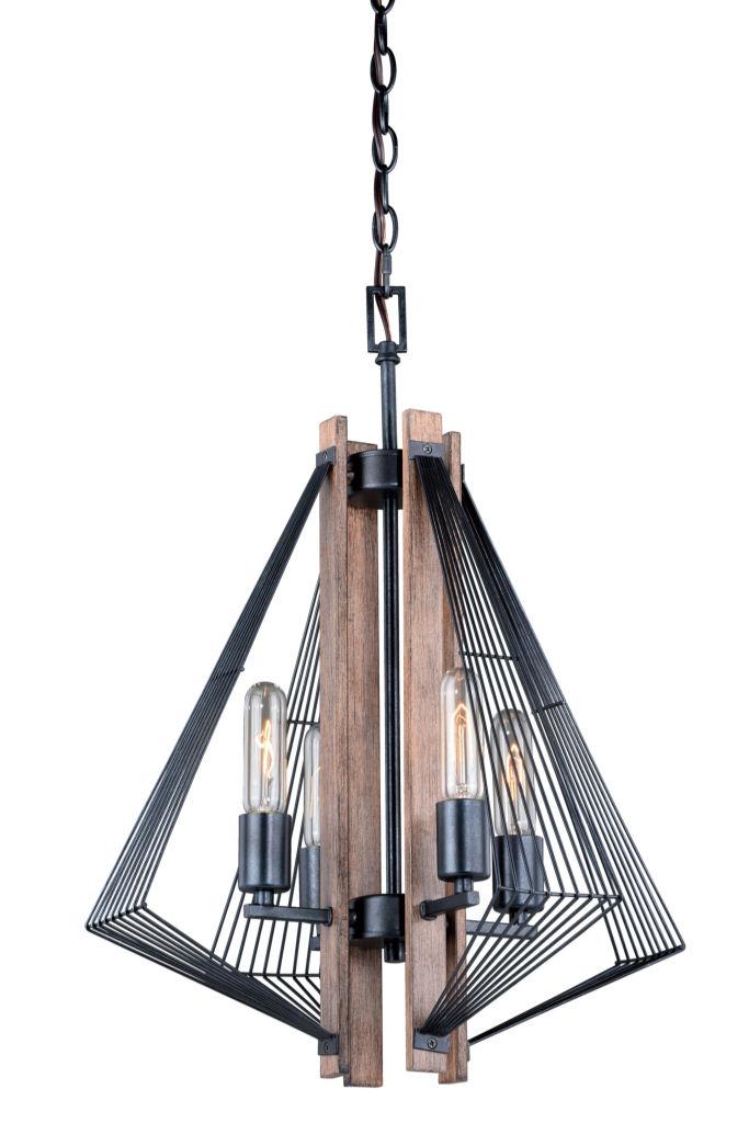 Rustic chandeliers dearborn black wood edison nautical modern 4 dearborn black wood edison nautical modern 4 light chandelier aloadofball Images