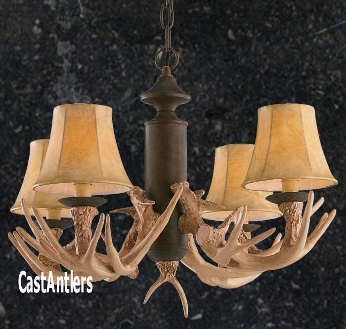 Antler chandeliers antler chandelier 4 light reproduction rustic antler chandelier 4 light reproduction aloadofball Images