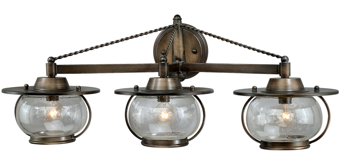 Wagon wheel chandeliers 3 light western rustic vanity light 3 light western rustic vanity light aloadofball Gallery