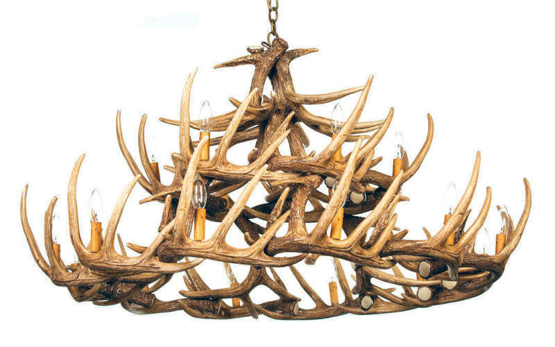 Antler chandeliers whitetail 30 cast antler chandelier rustic whitetail 30 cast antler chandelier mozeypictures Images