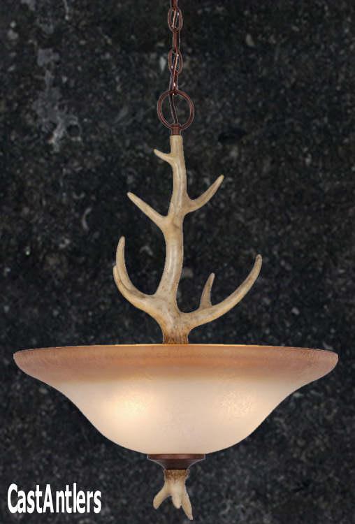 Rustic pendants 18in cast antler pendant rustic lighting and 18in cast antler pendant aloadofball Gallery
