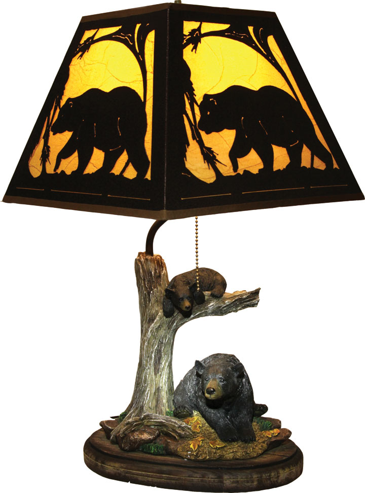 Wonderful Bear Table Lamp With Metal Shade