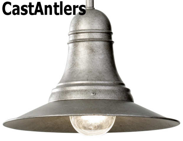 Shop Allen Roth 3 Light Hainsbrook Antique Pewter: Industrial Light Pendant