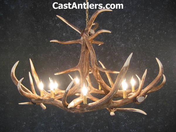 Antler chandeliers elk 6 cast antler chandelier rustic elk 6 cast antler chandelier mozeypictures Images