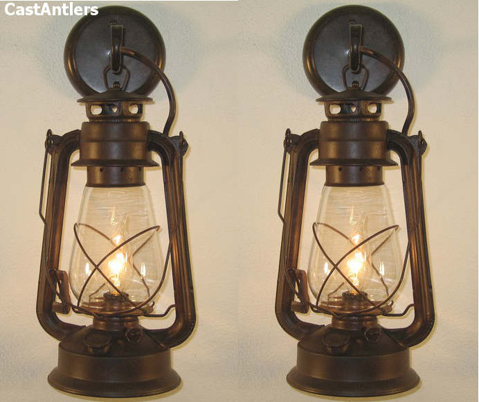 Large Rustic Lantern Wall Sconce Price Is For 2 Sconces