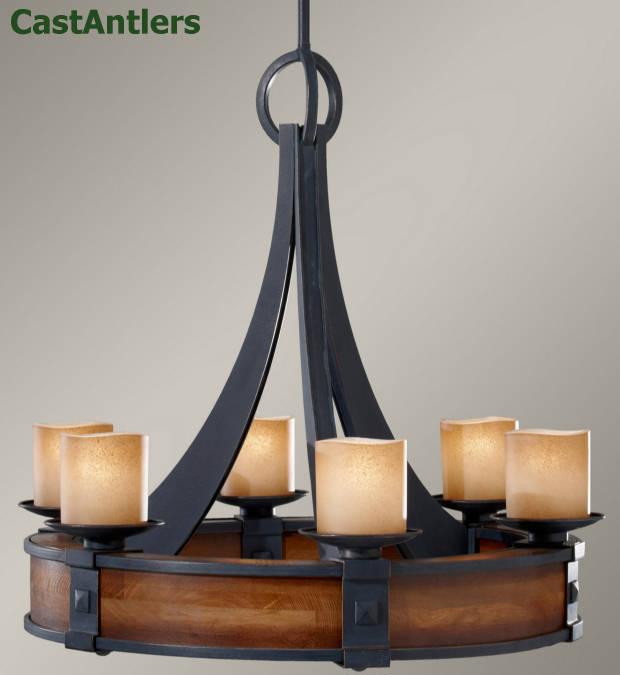 Round Rustic Chandeliers rustic chandeliers | madera 6 light round chandelier | rustic