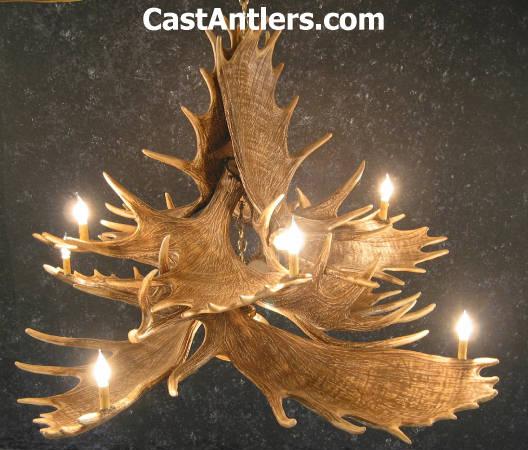 Antler chandeliers moose 10 cast antler chandelier w downlight moose 10 cast antler chandelier w downlight mozeypictures Images