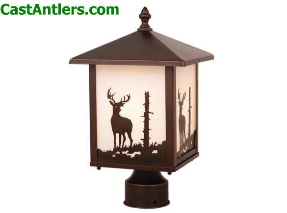 Outdoor Lighting Outdoor Post Light Deer Rustic