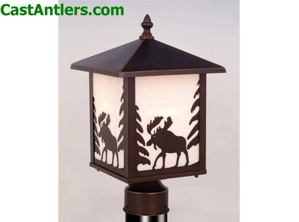 Outdoor Lighting Outdoor Post Light Moose Rustic