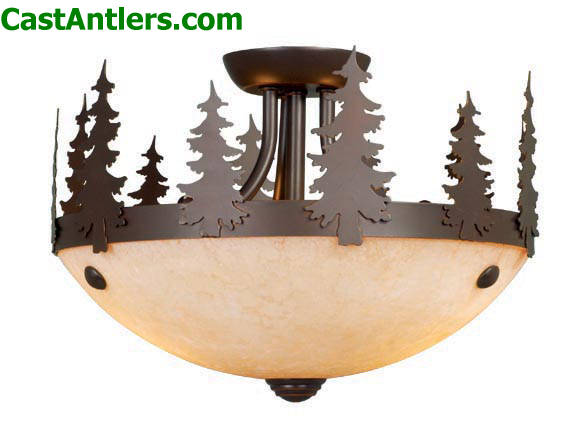Rustic Country Two Light Semi Flush Ceiling Hover To Zoom
