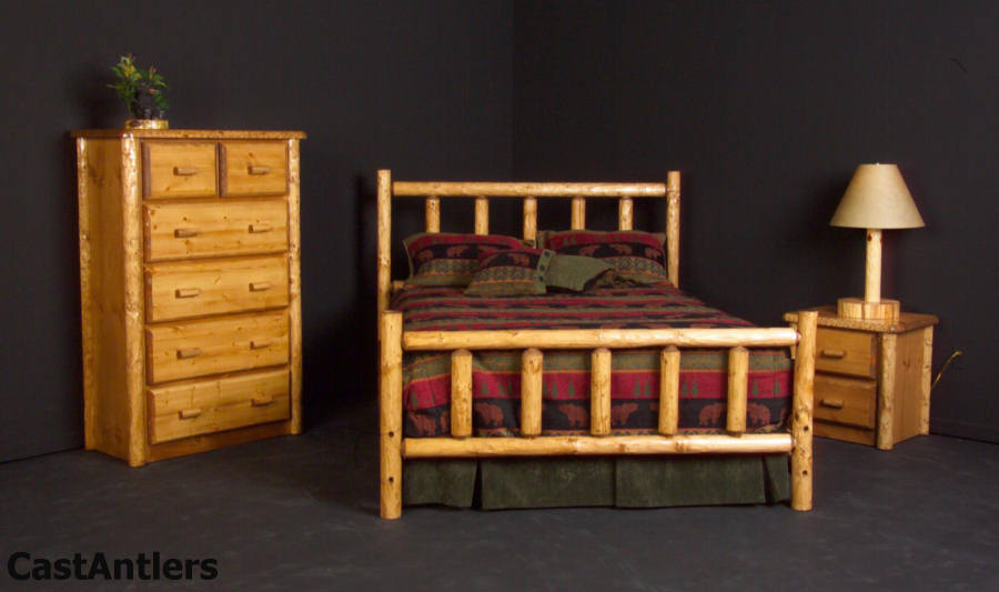 Modest Log Bedroom Sets Design Ideas