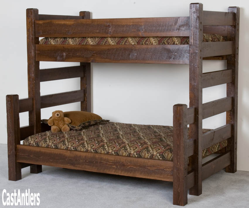 Rustic Furniture Barnwood Bunk Bed Rustic Lighting And Decor