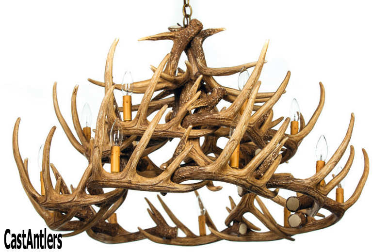 Antler chandeliers whitetail 24 cast antler chandelier rustic whitetail 24 cast antler chandelier mozeypictures Images