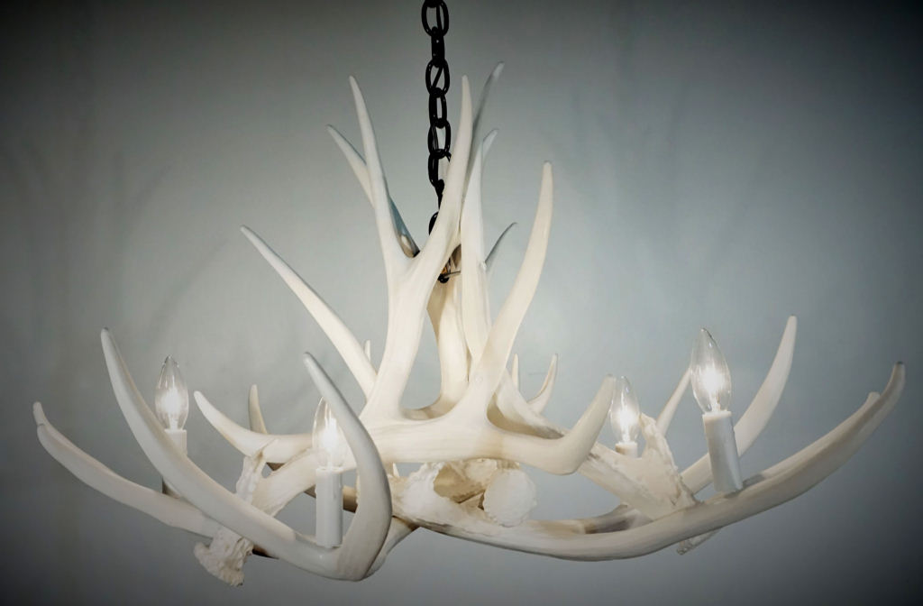 Pure white antler lights pure white mule deer 6 cast antler pure white mule deer 6 cast antler chandelier aloadofball Images