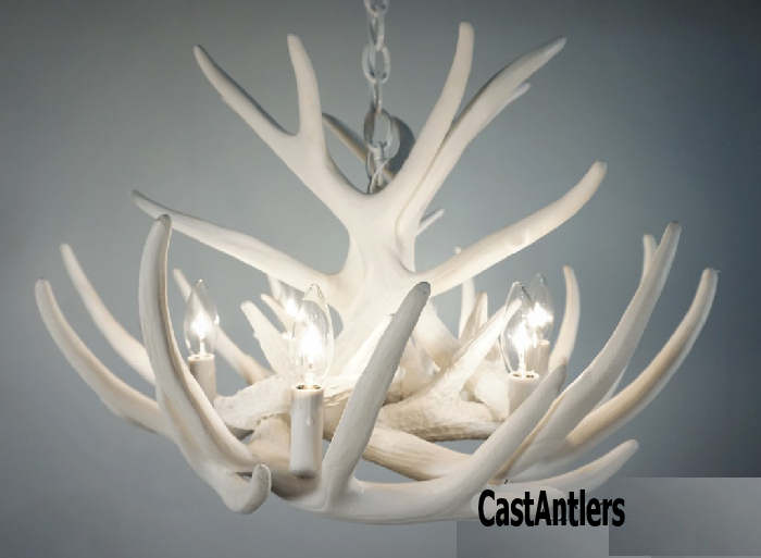 White antler chandeliers pure white faux antler chandelier mozeypictures Image collections