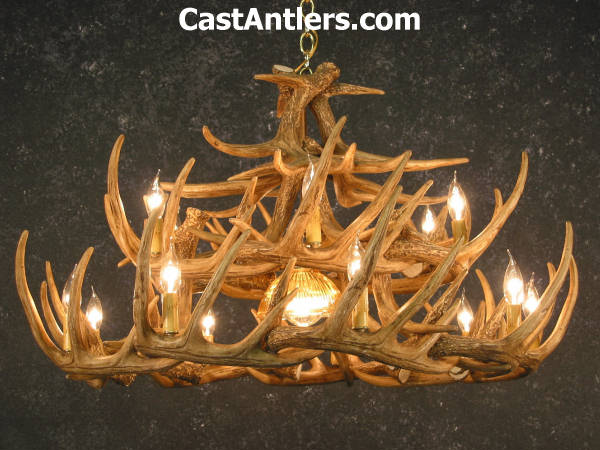 Antler chandeliers whitetail 24 cast antler chandelier w whitetail 24 cast antler chandelier w downlight hover to zoom mozeypictures Images