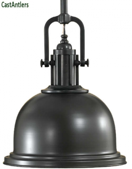 Large Industrial Light Pendant - Dark Bronze