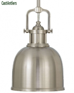 Industrial Light Pendant - Brushed Steel
