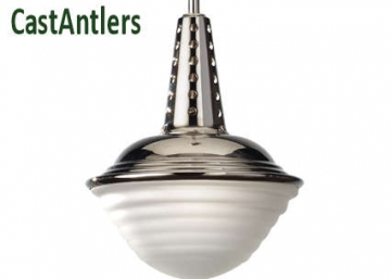 Industrial Light Pendant - Polished Nickel