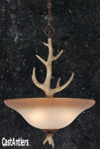 18in Cast Antler Pendant