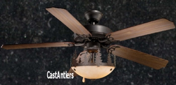 "52"" Rustic Ceiling Fan w/ Yukon Light Kit"