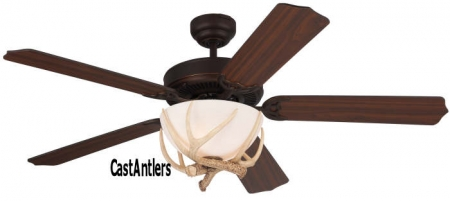 "52"" Rustic Dakota Faux Antler Ceiling Fan"