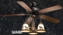 "52"" Rustic Ceiling Fan w/ Light Kit (Multiple Scene Options)"