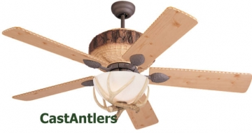 "52"" Antler Dark Lodge Ceiling Fan"