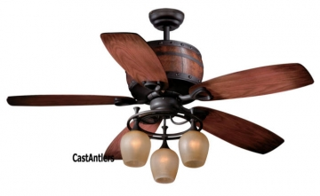 "52"" Wine Barrel Ceiling Fan"