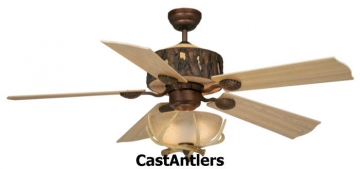 "52"" Woodlands Rustic Faux Antler Ceiling Fan"