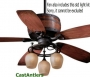 "52"" Reproduction Antler Barrel Ceiling Fan"