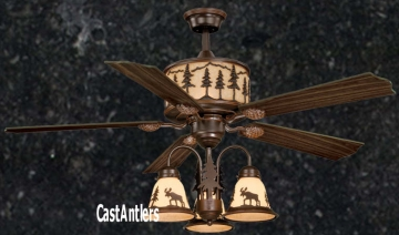 "56"" Yukon Wilderness Ceiling Fan w/ 3 Light Kit"