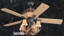"52"" Rustic Faux Antler Lodge Ceiling Fan"