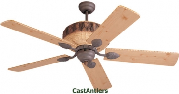 "52"" Dark Lodge Ceiling Fan"