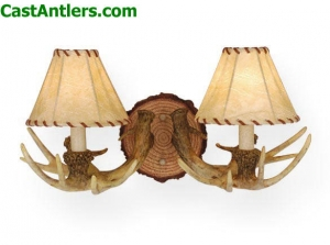 2-Light Cast Antler Wall Light