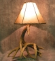 Cast Whitetail 2 Antler Table Lamp
