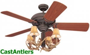 "42"" Reproduction Antler Ceiling Fan"