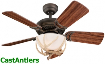 "34"" Ranch Hand Reproduction Antler Ceiling Fan"
